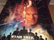 Sttng first contact signed poster
