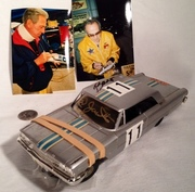 Ned Jarrett & George Barris Signing #11 AMT Slot Car