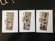 "Cinzia Farina - ""graffiti di terra verde"", Piccola serie di 3 pezzi, per Marisa Cortese (1/3), Judith Dagan (2/3), Simonetta De Muro (3/3)"