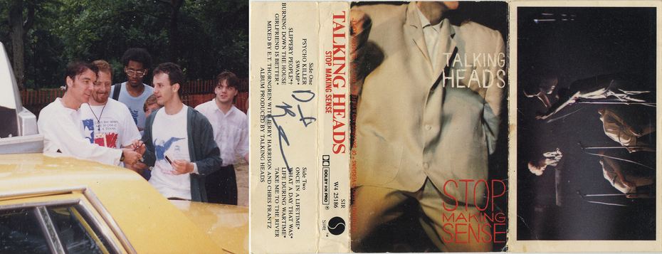 David Byrne Stop Making Sense IP Cassette Insert 1990