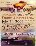 The Late George Barris, Signed, #46c-254, 2005, Volo Auto Museum, Flyer, Personalized