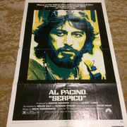 Al Pacino autographed Serpico one sheet