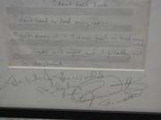 Roger Daltry signed Mccartney lyrics