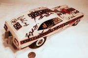 #E1D-5-1, 1960's COX Gas Funny Car with 22 NHRA P.P. Autographs