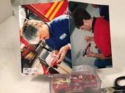 #23-28, Bobby Labonte, Initialing, and David Green Signing, #23-28, Racing Champions, 1993, Elite, Busch, #44, Slim Jim,