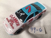 #49-6, NASCAR, Stevie Reeves, Initial, 1995, Racing Champions, #7, Clabber Girl, 1/64 scale, Die cast,