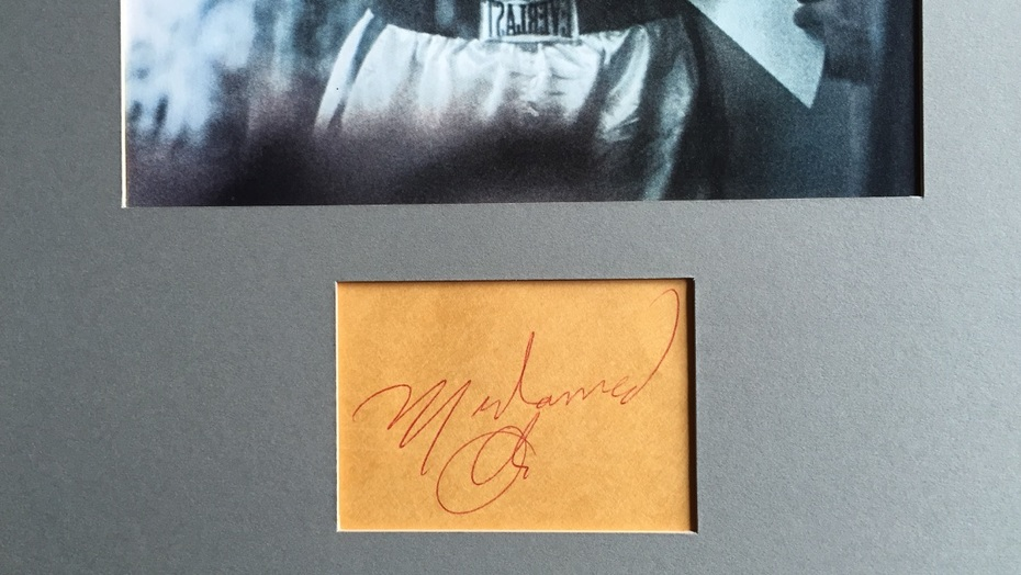 """A Muhammad Ali autograph I got in person from """"The Greatest"""""""