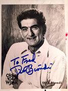 #46D-43, RADIO, Dick Biondi, DJ, 104.3 WJMK, Signed, Hero Card,