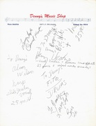 Canned Heat Signed Page