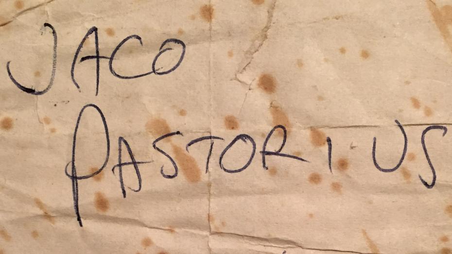 Authentic Jaco Pastorius Signature