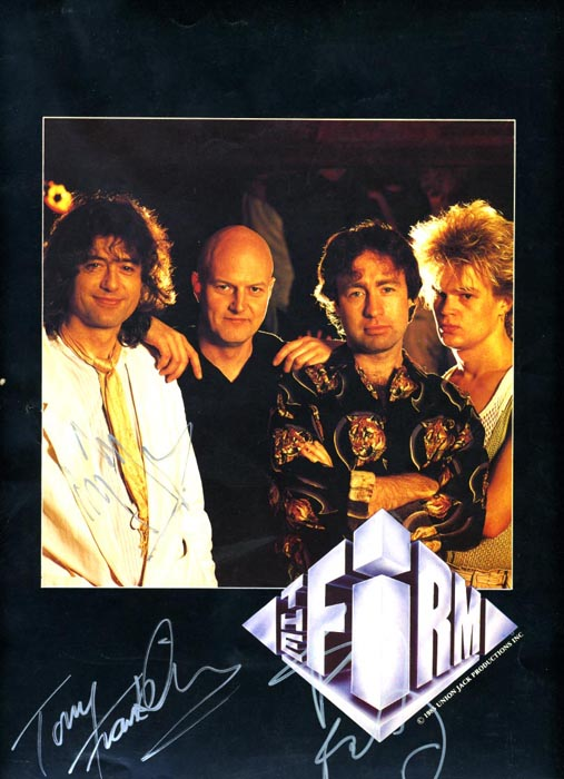 The Firm 1985 Tour programme signed by Jimmy Page, Paul Rodgers, and Tony Franklin