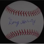 Umpire Doug Harvey signed baseball