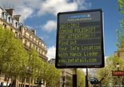 Information panel Paris
