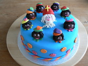 blauwe Sint taart