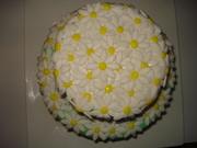 Bovenaanzicht lente taartje