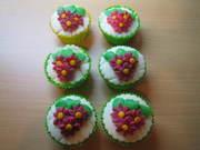 cup cakes roze margrieten