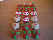kerst cup cakes