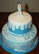 Frozen taart Olaf