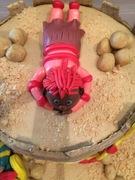 zandkasteel taart