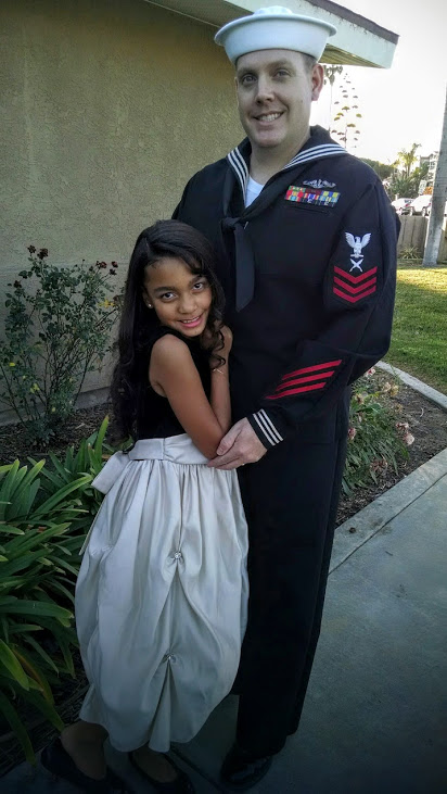 Father and Daughter Military Dance