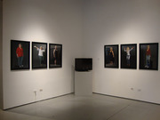 Installation view video- My Life as an Avatar video and 6 portraits