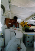 Polinesio's galley viewed from starboard