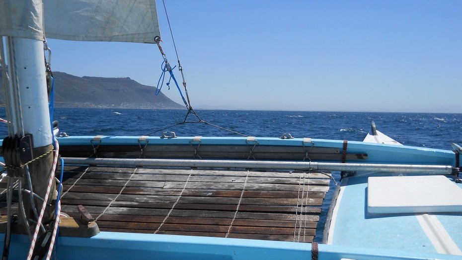 Sailing out of Simonstown