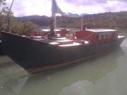 Tilly at her berth in the Big Muddy Creek Manukau Harbour NZ