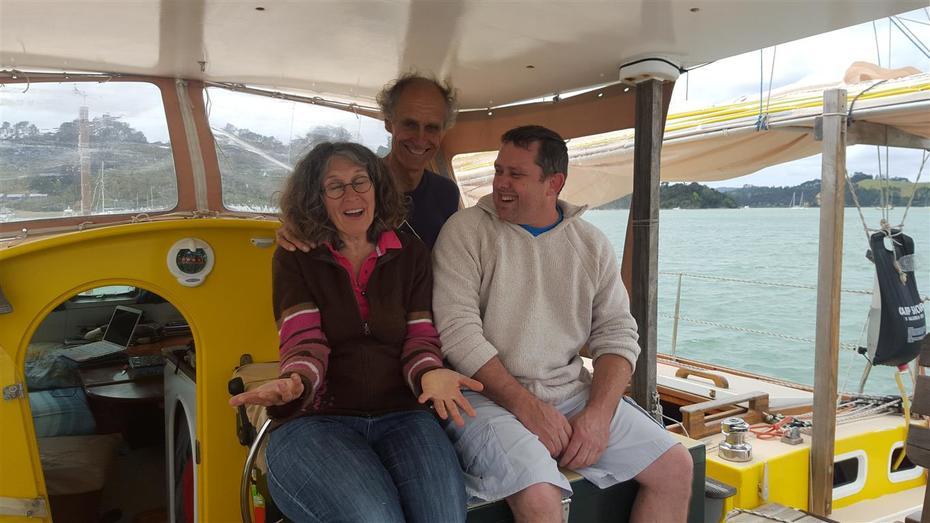 Iain, Bertrand & Marie on Grand Pha