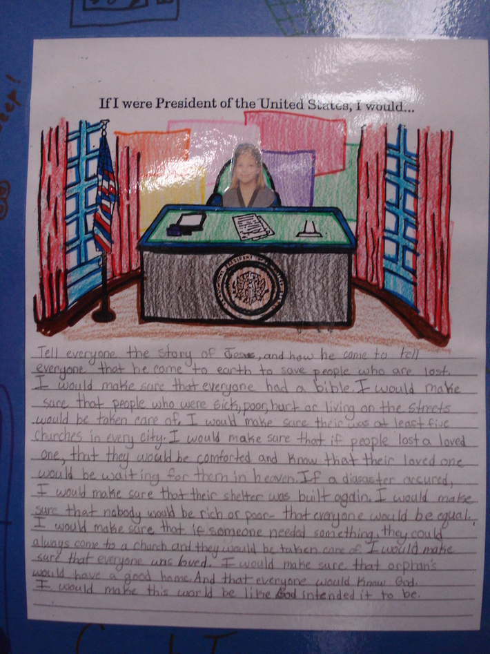 Gina Nored (Age 9) - If I were President of the United States