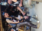little biker,and daddy