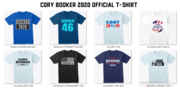 Cory Booker 2020 Official T-shirts
