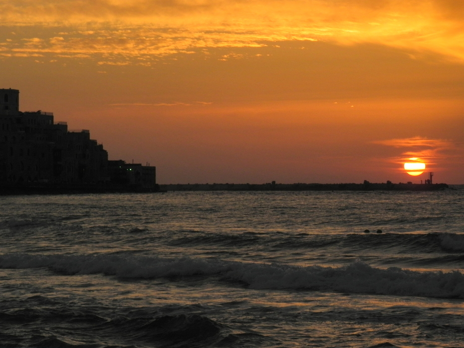Just before sunset Yaffo , Israel