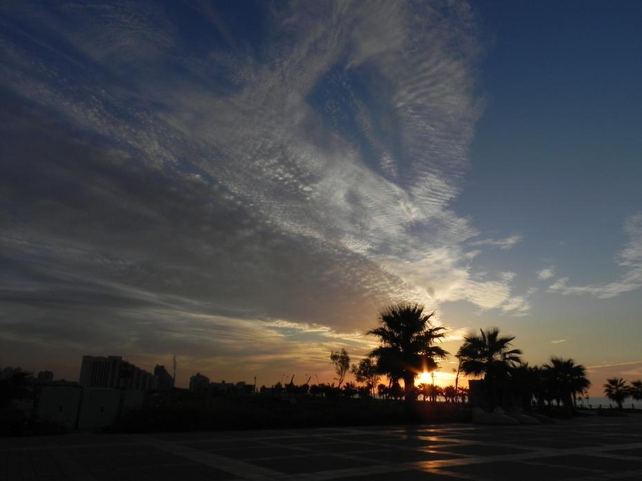 one winter morning sunrise, Ashqelon, Is.