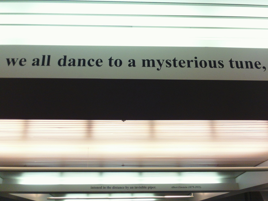 Cryptic words at Denver Airport