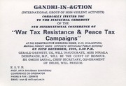 7th International Conference War Tax Resistance and Peace Tax Campains