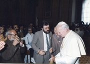 S.V. Govindan with the Pope