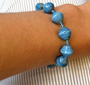 Mzuribeads Paper Bead Bracelet