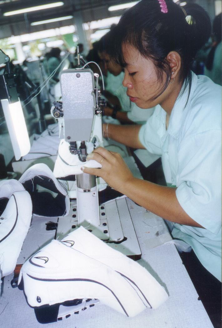 Khorat woman working in Nike factory