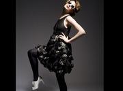 Laura Ellis 'The Layered Leather Dress'
