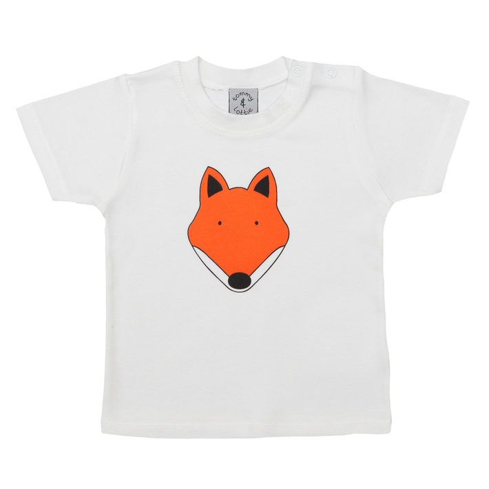 British Fox Short Sleeve Baby T Shirt - Front