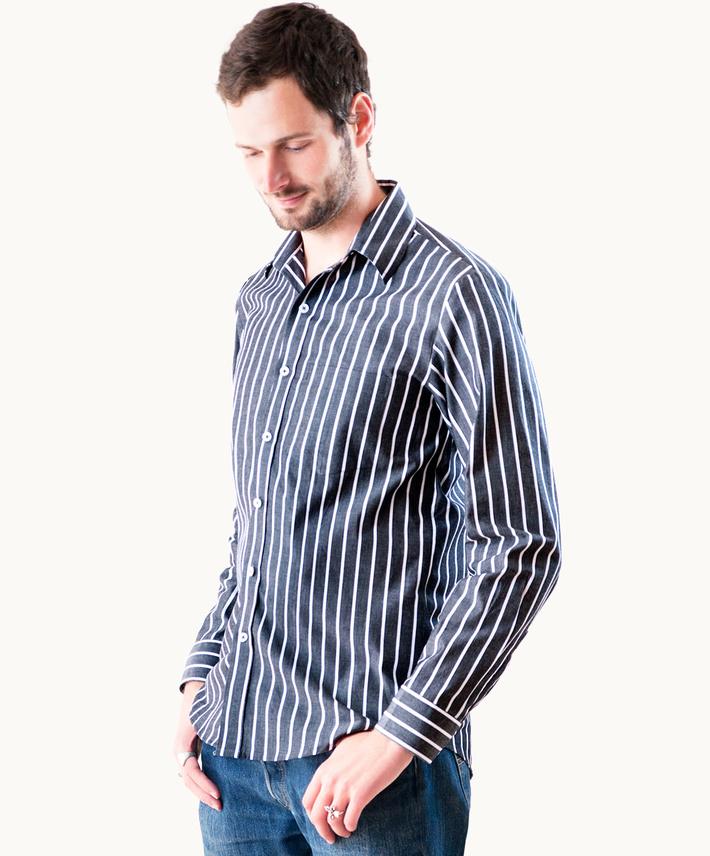 City Stripe Long Sleeve Shirt