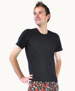 Men's Black Cotton T-shirt