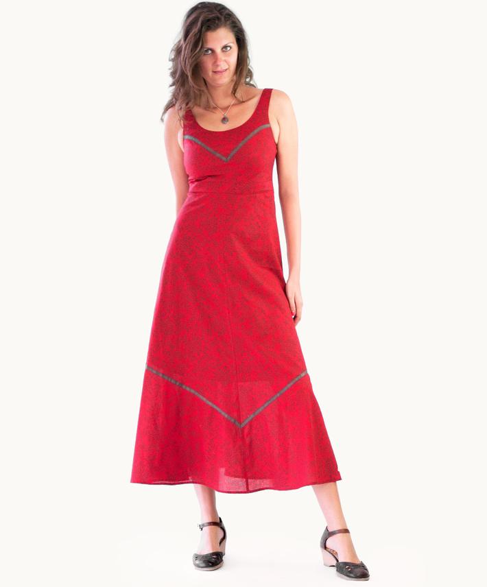 Wondrous Red Muscat Maxi Dress