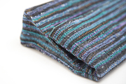 Foldover Clutches- Black and Blue Stripes