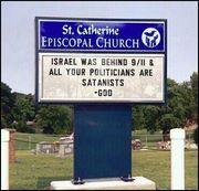 Israel behind 911 church sign