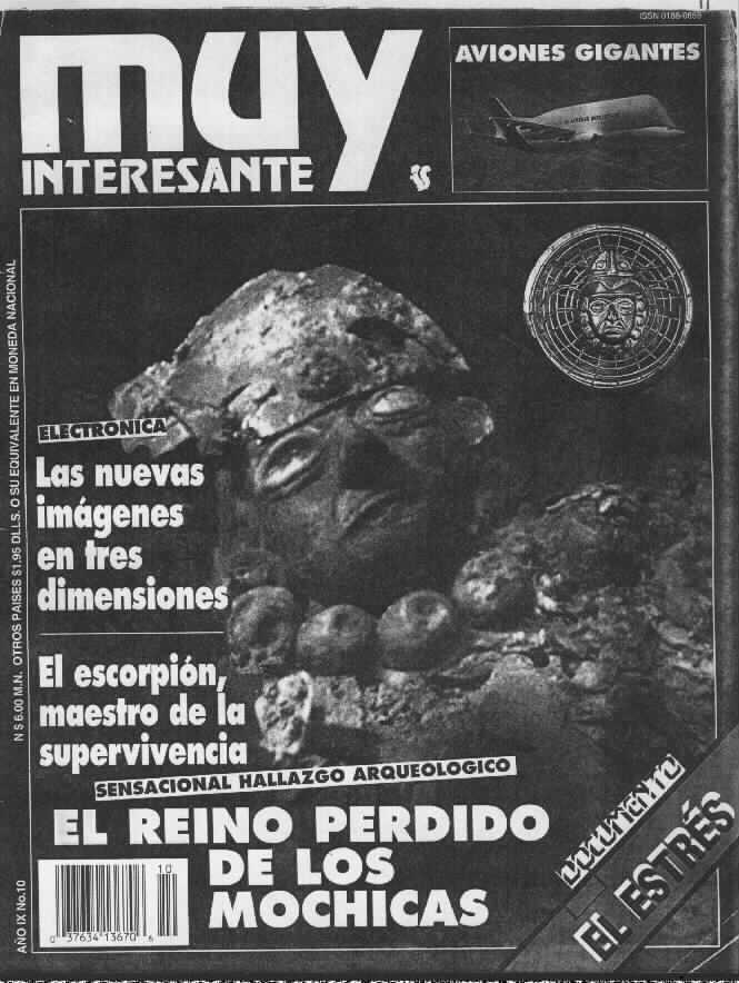 Gearturbine Muy Interesante Magazine Centerfold from year IX no.10 : 1992 Scientific magazine