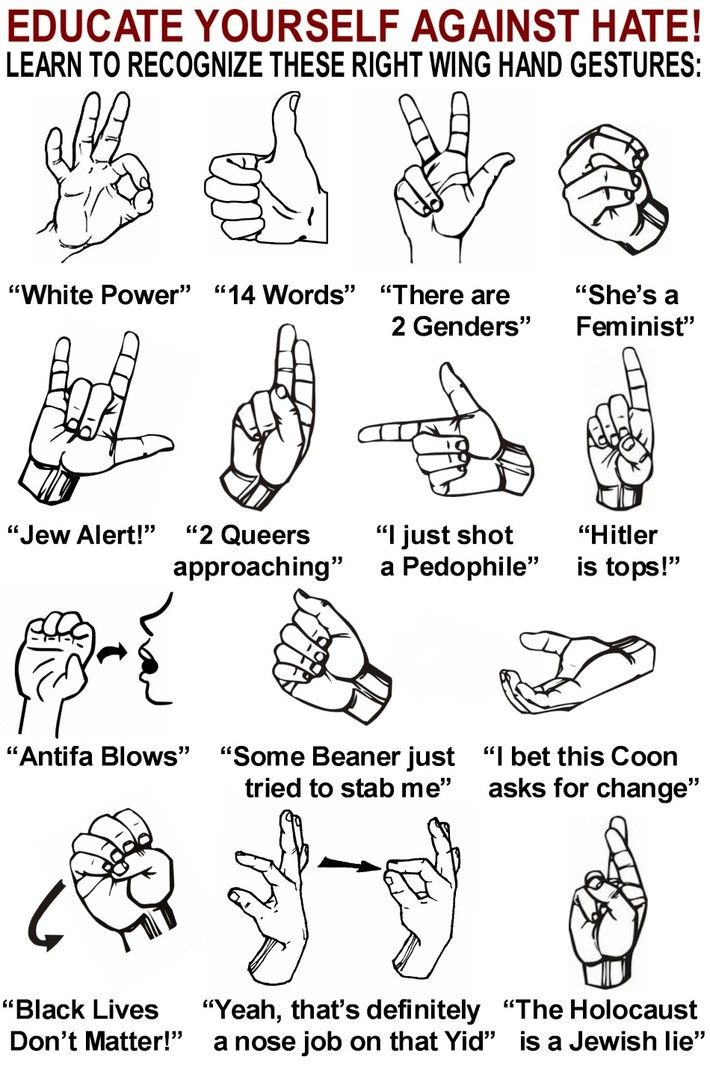 HAND SIGNS - RIGHT WING HATEFUL HAND GESTURES 2