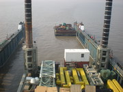 Maharani Jack-Up Platform being loaded by float on basis
