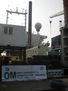 Om Projects banner on board the Maharani Jack-Up Platform